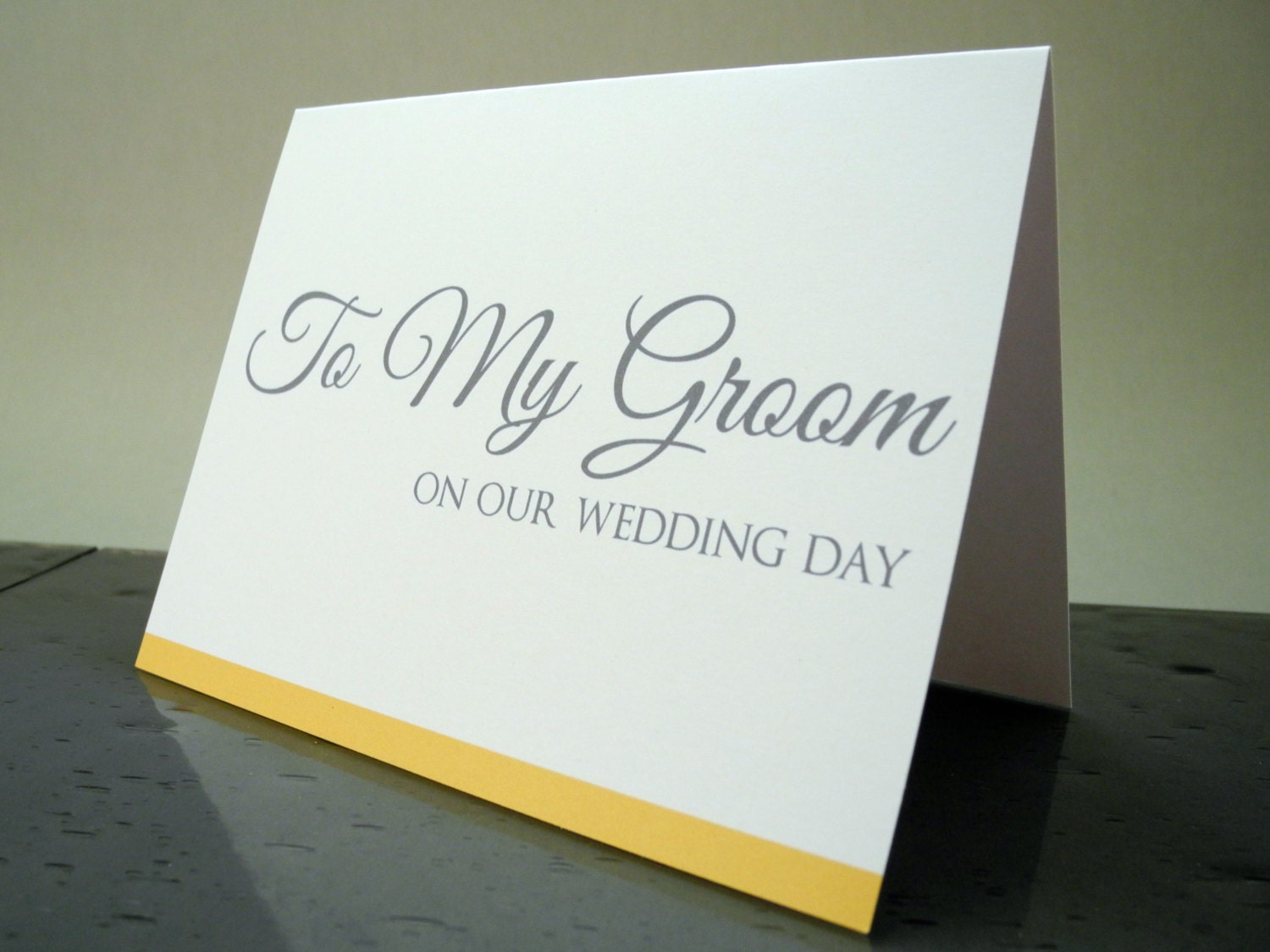 Groom Gift To My Groom On Our Wedding Day Card Gift From
