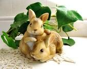 Vintage Homco Rabbit Figurine 1455