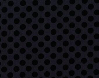 SALE 1/2 Yard Michael Miller Ta Dot Fabric in Ebony