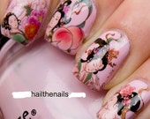 Nail Wraps Nail Art Nail Decals Water Transfers Geisha Girls Salon Quality YD755