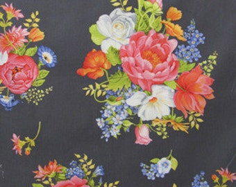 Quarter yard uncut Yards available Michael Miller Botanika Collection Mille Fleur Meadow by Paula Prass