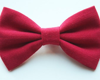 Red Hair Bow - Red Bow Tie - Red Bow - Red Bows