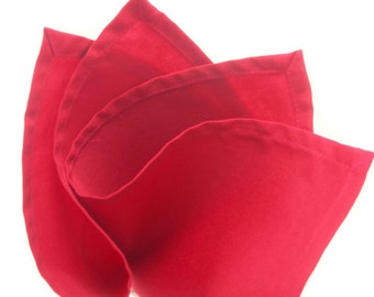 Red  cotton pocket square