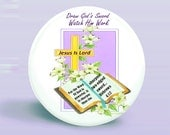 Button God's Sword - Jesus Is Lord - Hebrews 4:12 Magnet-Pinback - Original Design- 2.25 Inch Round