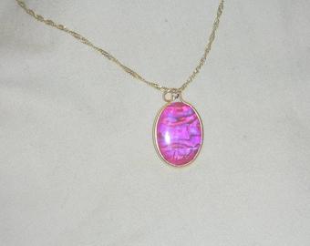 Pink Paua Shell Pendant