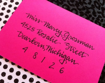 MARCY : Custom Wedding Calligraphy Envelope Addressing