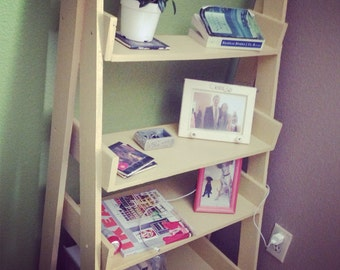 Yellow ladder bookshelf