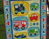 Baby Boy Crib Vehicle Train Fire Engine Car Bus Truck Airplane Quilt Boy Toddler Nursery Bedding Vehicle Baby Shower New Baby Boy Gift