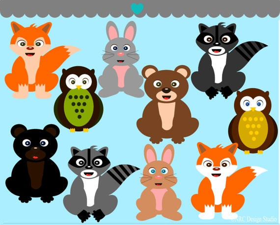 Free clip art forest animals