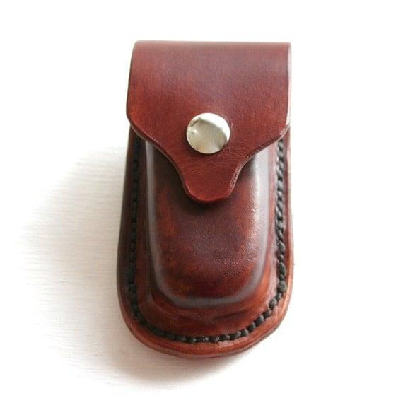 Leather Pocket Knife Holder For Belt Leather Knife Case