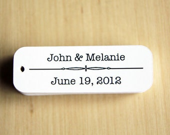 Wedding Favor Tags - Custom Wedding Favor Tags - Personalized Wedding Favor Tags - Mini Tags - Small Tags - Party Tags - Party Favor Tags