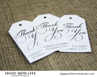 Thank You Tag - Custom Thank You Tags - Party Favor Tags - Bridal Shower Tags - Party Thank You Tags - Custom Tags - LARGE