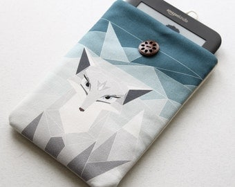 Polar Fox Kindle cover, available for Kobo sleeve, Nook cover, Nexus 7 case, Kindle Fire, 7 inch tablet, Sony Reader