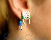 Fake ear gauge - Faux gauge/Gauge earrings/ plug/ fake piercin    Adventure Time/ Finn
