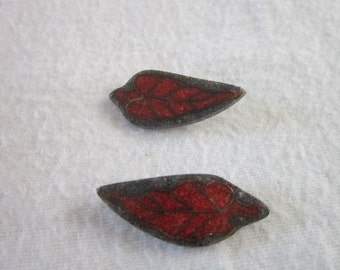 Vintage Inlaid Stone Pieced Earrings