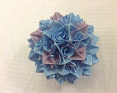 Blue and Purple Paper Centerpiece