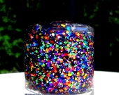 Rainbow Star Sprinkles Hand made custom nail polish from Glimmer by Erica