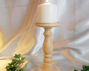 Unfinished Single 8-inch Pillar Candle Holder