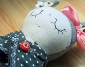 handmade doll, hand-stitched with love. - Fililishop