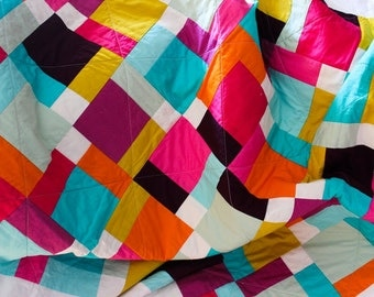Pure quilt, a modern color block solid quilt