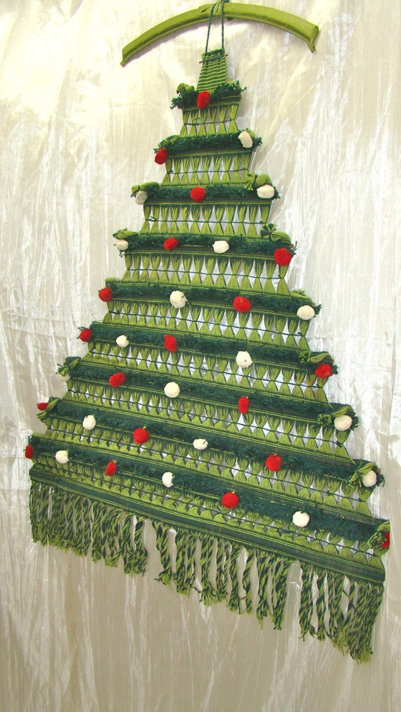 Vintage Christmas Decor Macrame Christmas Tree Wall By