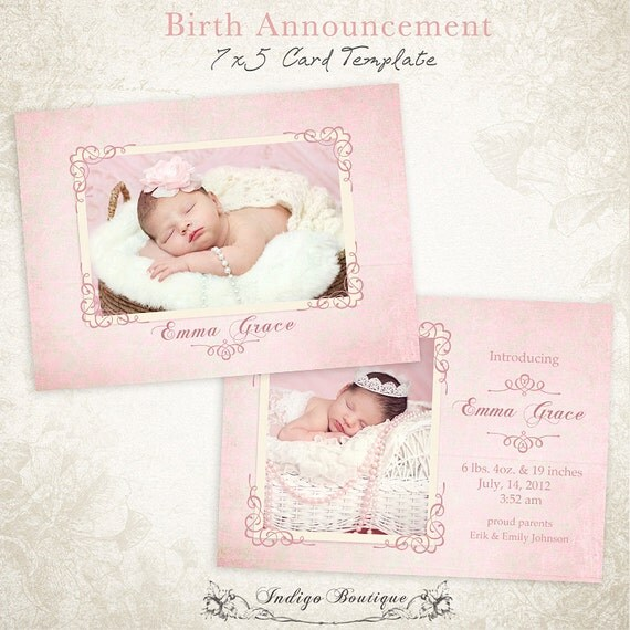free birth announcement template - items similar to birth announcement birth announcement