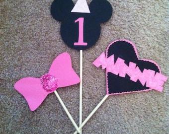 Minnie birthday centerpiece