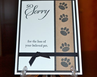 Pet Sympathy Card, Loss of Pet Card, Dog Sympathy Card, Cat Sympathy Card