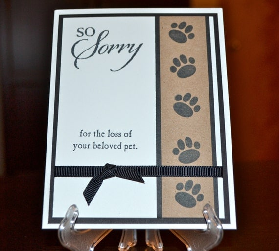 Loss Of Pet Quotes For Dogs: Items Similar To Pet Sympathy Card, Loss Of Pet Card, Dog