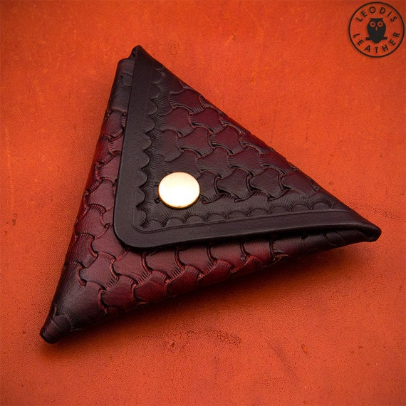 Build Along Leather Pattern 1 Triangular Coin Pouch From