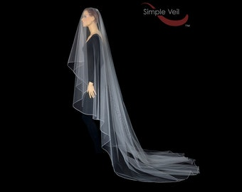 130 inch Drop Veil, Pencil Edge