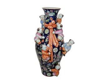 Vintage Porcelain Seven Urchin Decorative Flower Vase