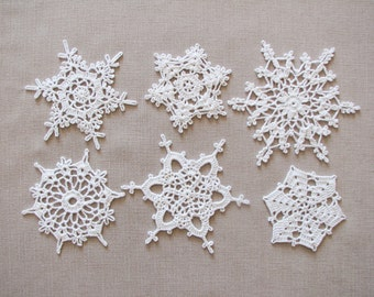White lace snowflakes Christmas decors Xmas tree ornaments Wedding decors Garland motif