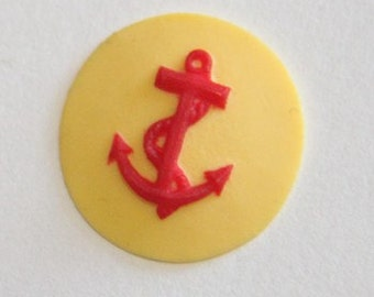 12 Pcs of Resin anchor cabochon 18mm-RC0436