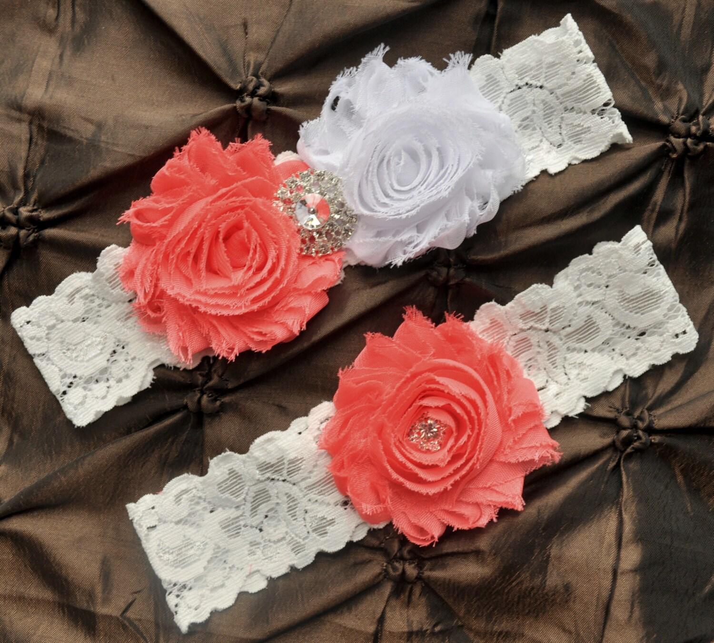 White Wedding Garter: Garter Wedding Bridal Garter White Lace Garter Set