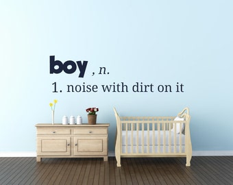 Baby Room Wall Decal - Boy's Vinyl Wall Art 0004