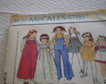 McCall's Girls Sewing Patterns Size1-6