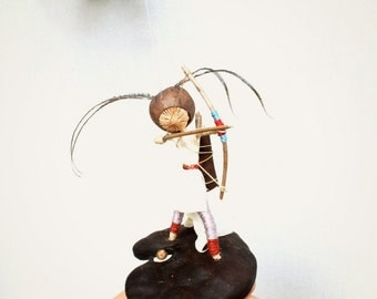 Fantasy Mobile, Elf shoots a bow and arrow.  Eco friendly Fairy tale Mobile. Natural decor, the archer,