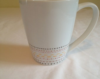 Hand Painted Mug with Colorful Dotted Pattern