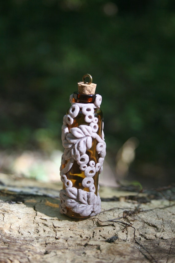 Ooak Polymer Clay Adorned Apothecary Vile Necklace