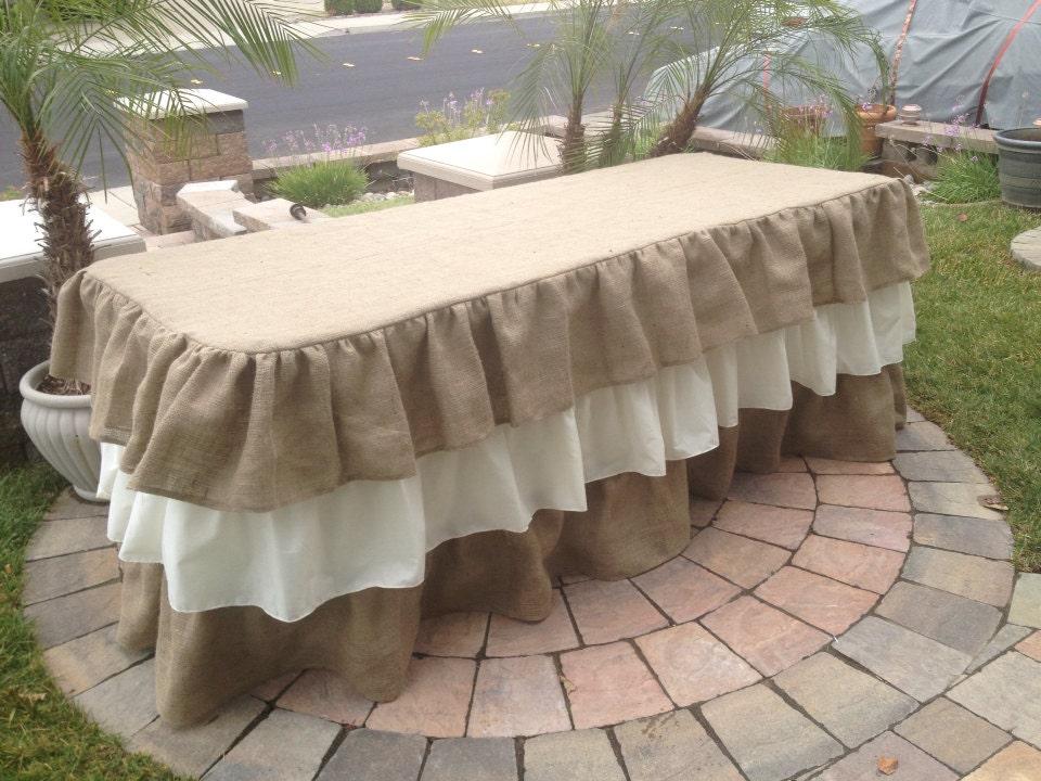 Ruffled Burlap Tablecloth burlap tablecloth by ... Ruffled Tablecloth