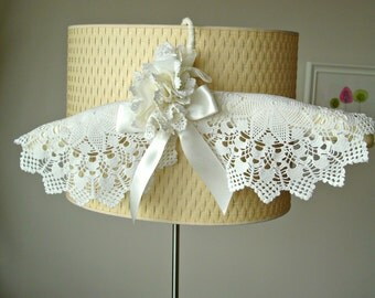 Wedding Dress Hanger  With Vintage Handcrocheted Doilies, Lace Flower , Satin Bow,  Bridal Hanger,  One Of A Kind Unique Item