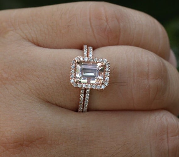 DEEP DISCOUNT LIMITED Time Rose Gold Morganite Engagement Ring