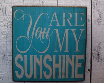 wooden sign,you are my sunshine, subway art, wall decor