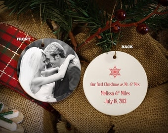 Custom Porcelain Christmas Ornament: Add Your Own Photo And Message