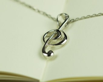 925 Sterling Silver Musical Note Charm, Musical Note Pendant, 25x11mm, Pkg of 1 pc, C0G8.SI06.P01