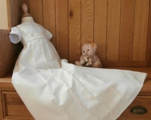 Unisex boy girl christening baptism naming dedication blessing gown robe dress traditional hand made to order