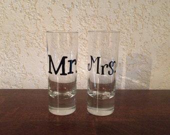 Mr. and Mrs. Shot Glasses