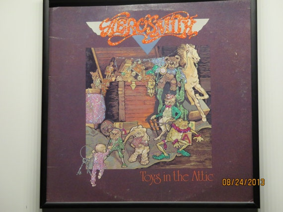 Glittered Record Album - Aerosmith - Toys in the Attic