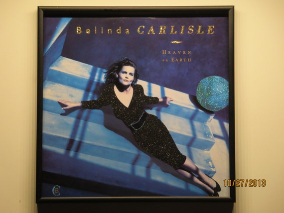 Glittered Record Album - Belinda Carlisle - Heaven On Earth